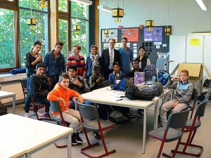 Spende Nimas e.V. für Willkommensklassen Hauptschule